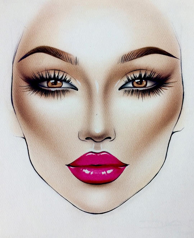 jadealyciainc Makeup face charts