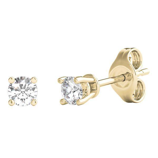 Smart Value 1 4 Ct Tw Diamond 4 Prong Stud Earrings In 14k Yellow Gold 2192776 Jewelry Diamond Engagement Rings Helzberg Diamonds