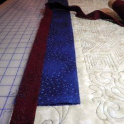 How to Hang a Quilt Using a Quilt Wall Hanger and a Hanging Sleeve ... : quilt hanging sleeve - Adamdwight.com