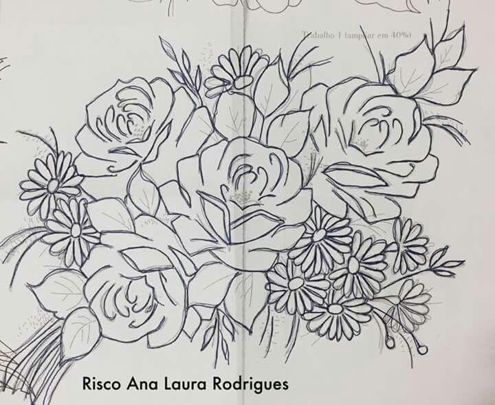 Pin de Noemi Pana en DIBUJOS | Pinterest | Rosas, Pintura flores y ...