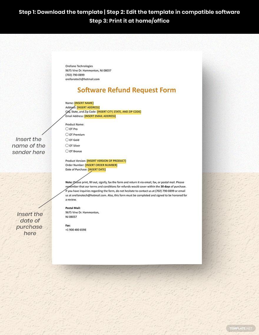 Software Refund Request Form Templates Financial Logo Logo Gallery