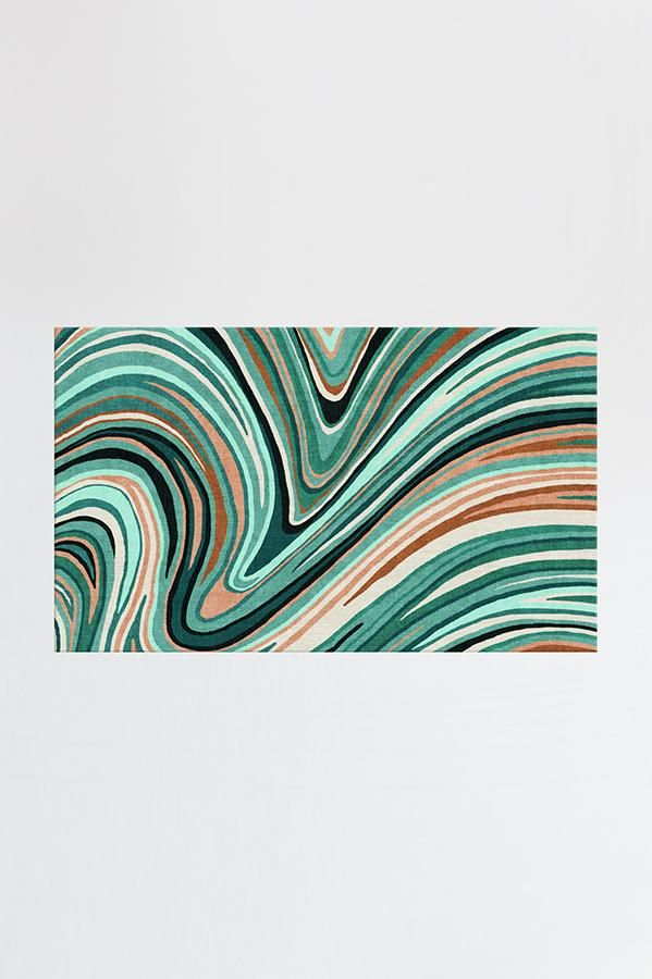 3x5 Coastal Style Kitchen Rug Turquoise Rugs Farmhouse Carpet