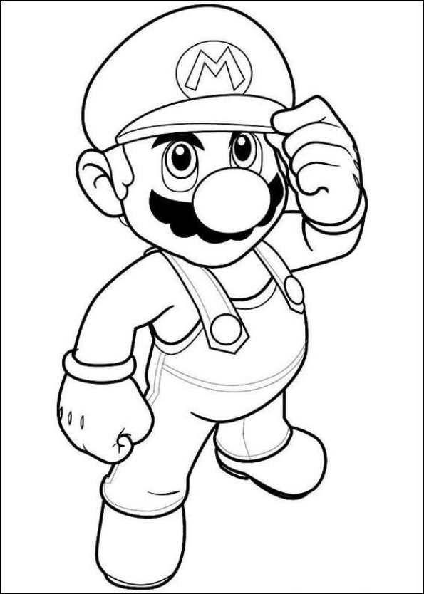 Coloring Page Super Mario Bros Kids N Fun Super Mario Coloring Pages Mario Coloring Pages Coloring Books