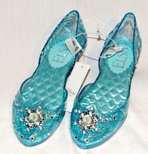 d3a7bf82f5 Disney Store Authentic Frozen Elsa Shoes Costume Light Up Shoes Size 9 10  New