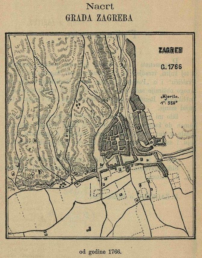 Zagreb 1766 Plan Grada Zagreb Croacia Viajes