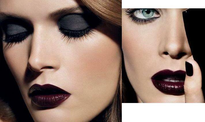 Chanel dark lips and eyes