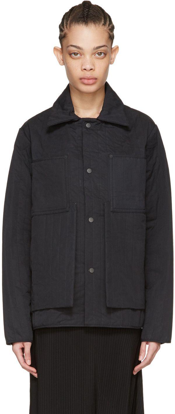 Black Quilted Workwear Jacket Work Wear Women Work Wear Craig Green