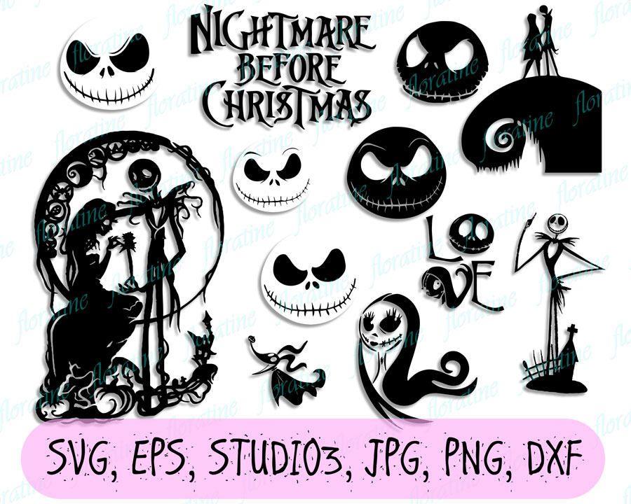 Nightmare before Christmas svg, Nightmare before Christmas