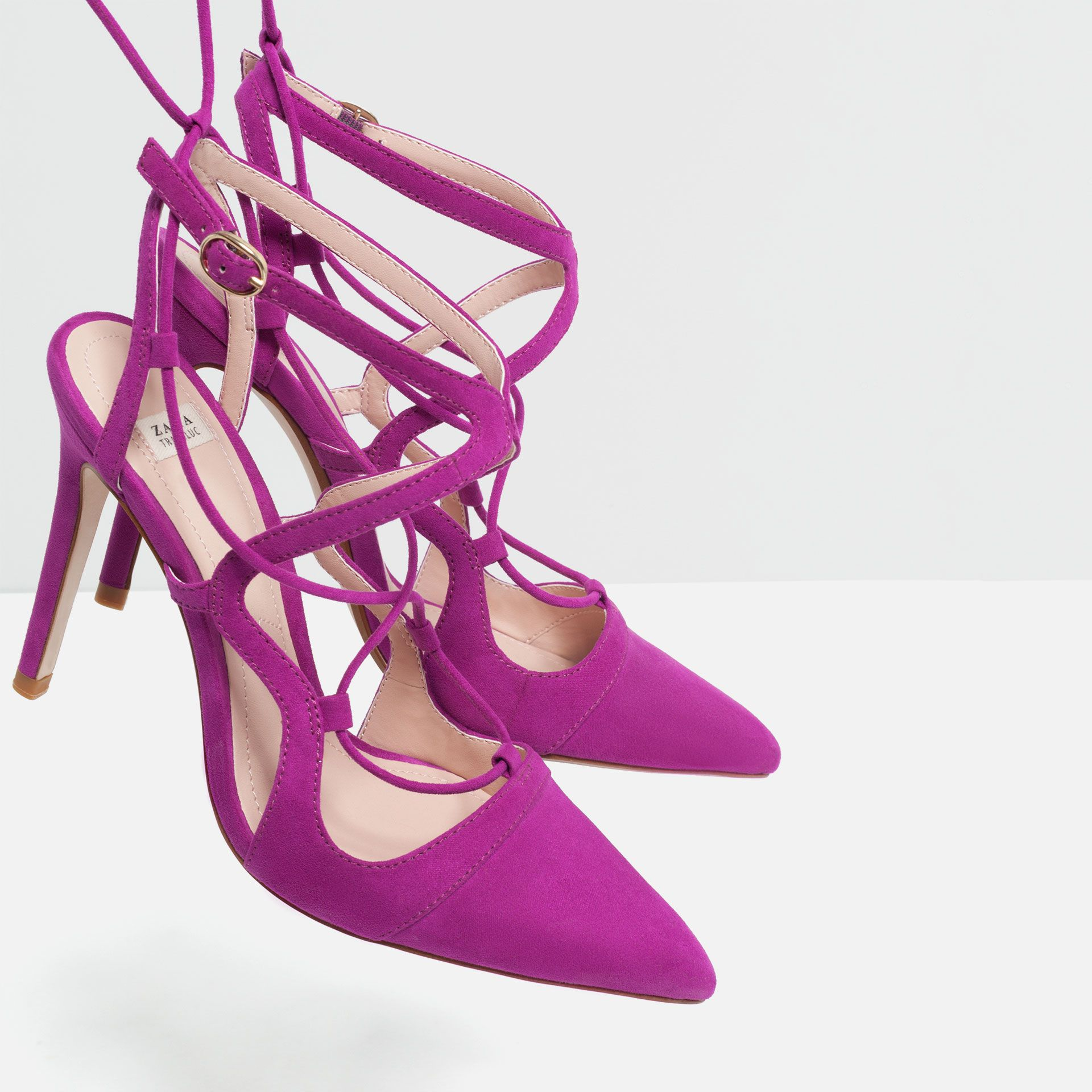 53fa40e9424 Pin by Demi on * High-heeled ♥* ~~ | Shoes, Lace up shoes, Zara shoes
