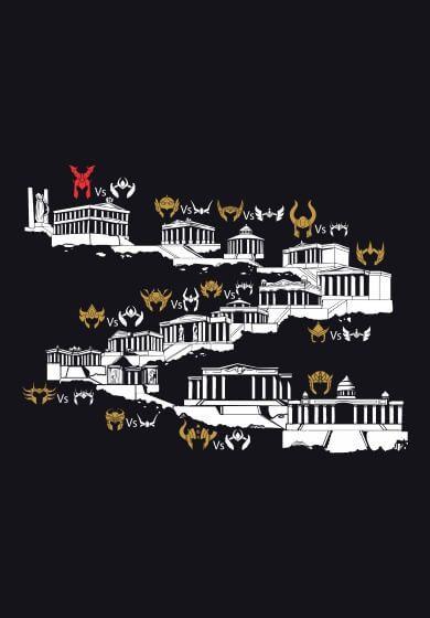 Camisetas as 12 casas saint seiya zodiaque les - Casas del zodiaco ...
