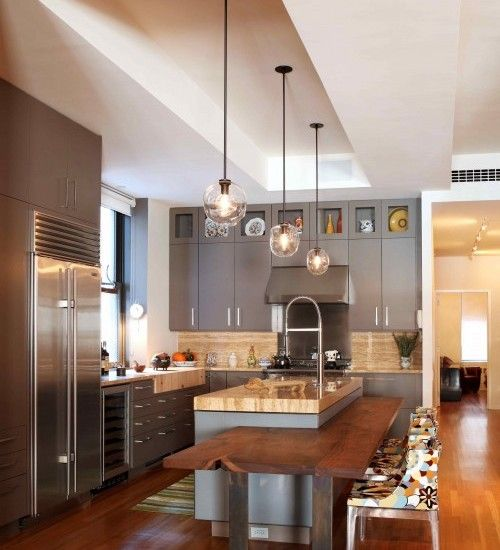Modern Island Bench Designs: Kitchen Island Table Combo Design, Pictures, Remodel