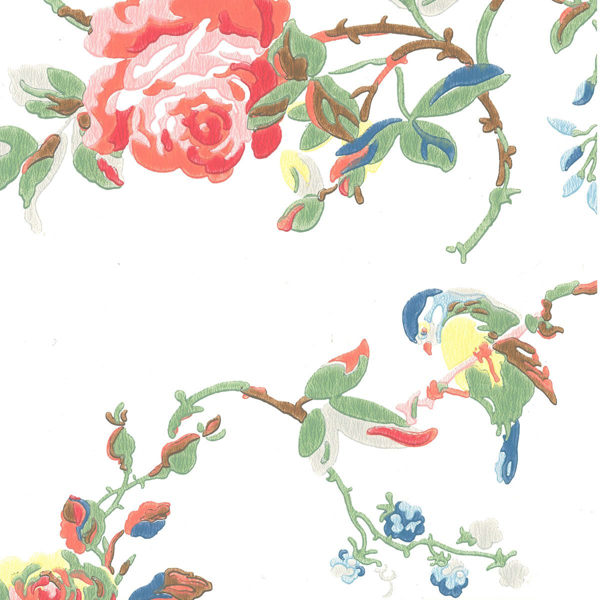 Birds u Roses wallpaper by Cath Kidston white Home Walls