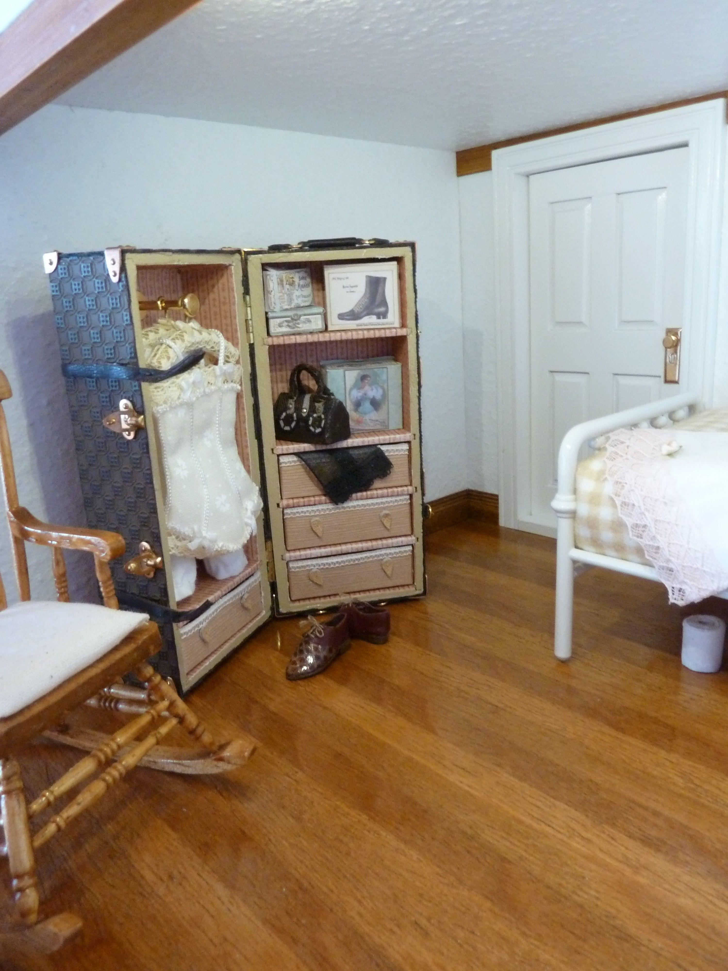 Angestelltenzimmer Puppenhaus 1 12 Puppenhaus Zimmer Haus