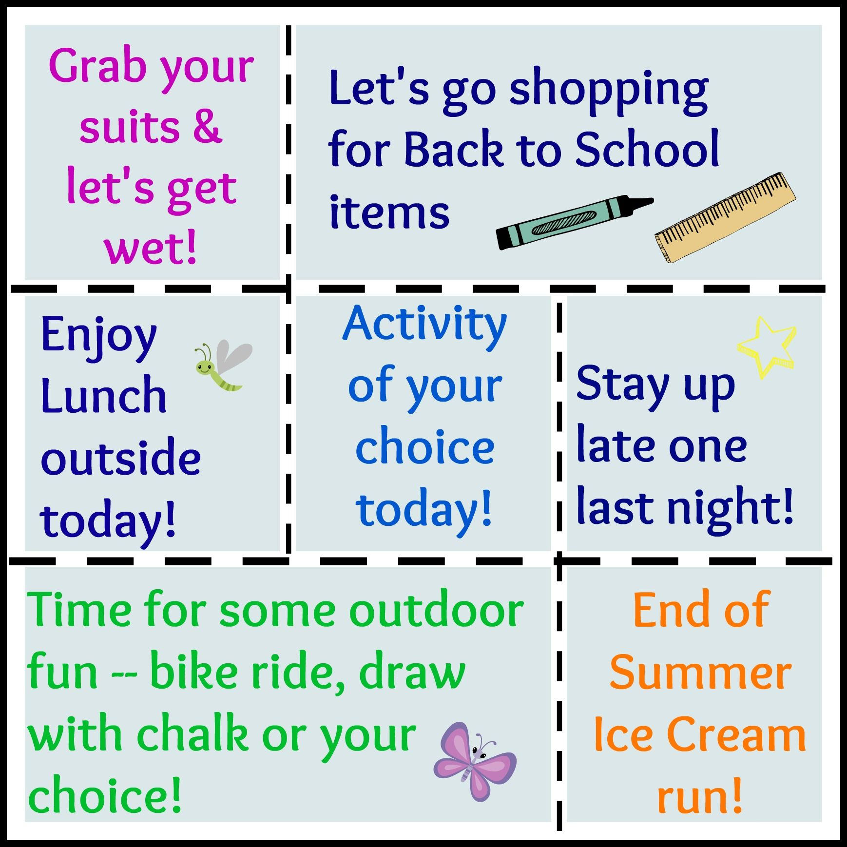 Free End Of Summer Fun Coupons For Kids A Great Way To Squeeze In Back To School Last Summer Activities For Kids Fun Summer Activities Summer Fun For Kids