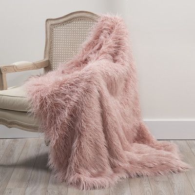 Blush Pink Throw Blanket House Of Hampton Greta Faux Fur Throw Blanket Color Pink Size 58