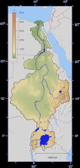 Nile River Located In Ethopia Sudan Egypt UgandaDemorcratic - Where is kenya located