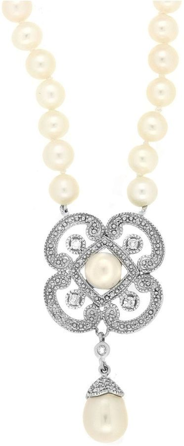 Fine Jewelry Womens White Pearl Strand Necklace Oox0K