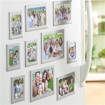 ctg simply home aluminum fridge magnet frames set 10 silver