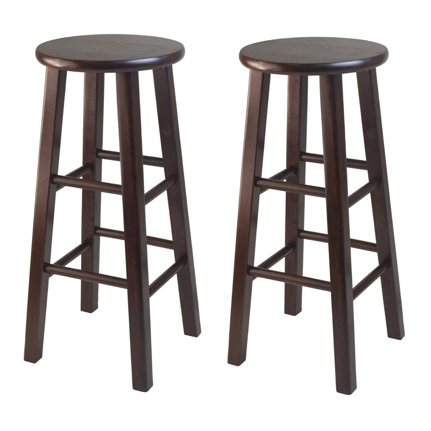 Furniture Traditional Dark Wooden Kitchen Bar Stool With Rounded Seat Extra  Tall Bar Stools