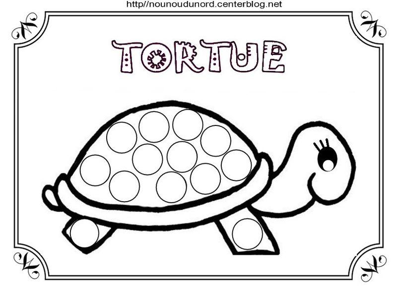 Tortues coloriage pour gommettes et en couleur poisson pinterest coloriage tortue tortue - Tortue en dessin ...