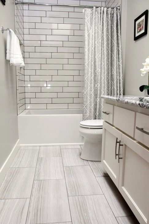 52 Simple To Make Diy Bathroom Remodel Ideas On A Budget Bathroom Budget Diy Ideas Remode Grey Bathroom Floor Vinyl Flooring Bathroom Bathroom Tile Designs