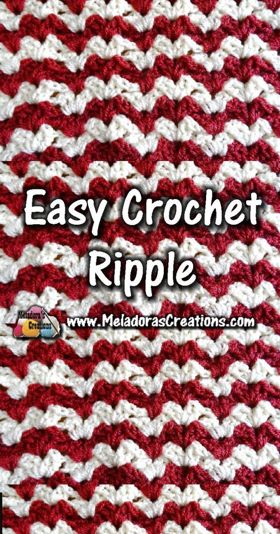 Easy Crochet Ripple - Crochet Stitch Tutorials | Crochet lessons ...