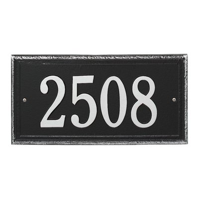 Whitehall Products Masons Personalized Rectangle Standard 1 Line Wall Address Plaque Plaque Color Black Address Plaque Whitehall Products Colorful Backgrounds