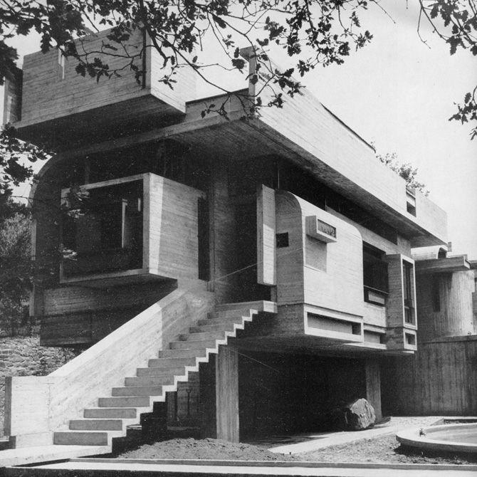Leonardo savioli villa taddei 1964 fiesole for Architettura moderna ville