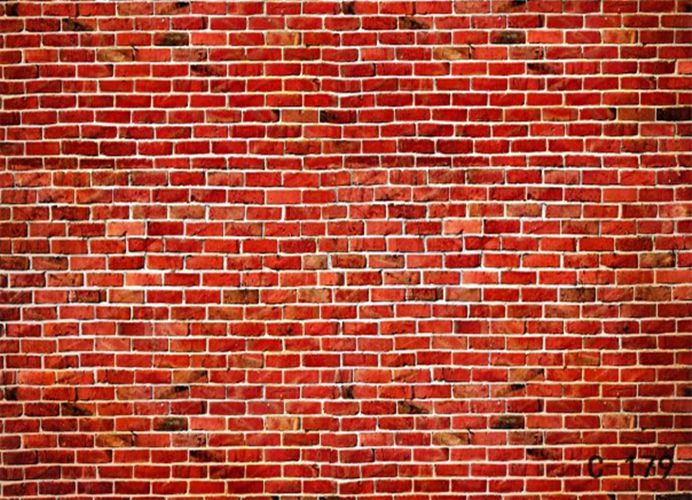7x5ft Red Brick Wall Props Fantasy Glitter Photo Background