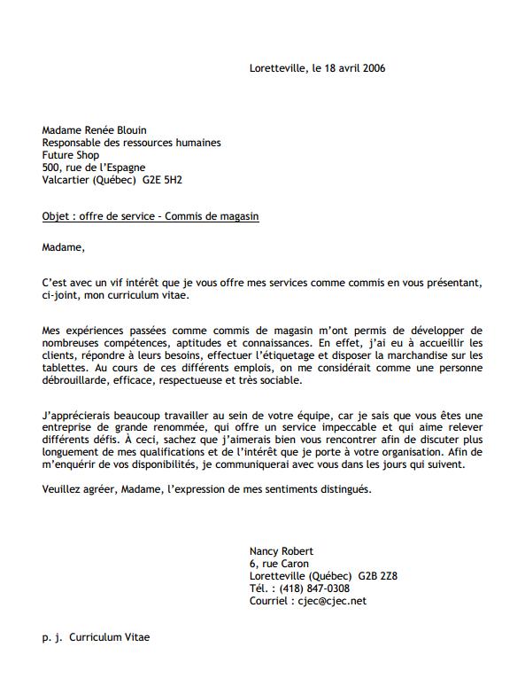 Ecriture D Une Lettre De Presentation Lettres Et Courriels Efficaces Resume