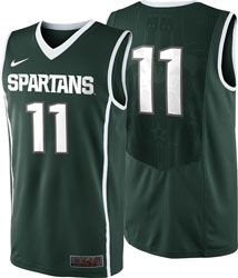 088d38a04 Michigan State Spartans Green Nike Replica Basketball Jersey  http   www.fansedge.