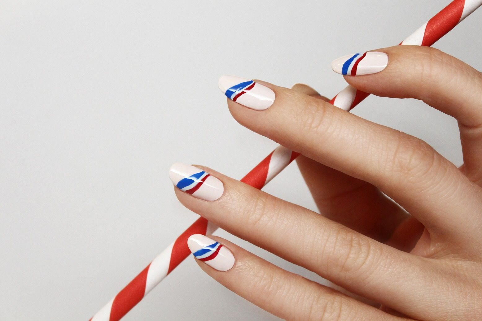 Memorial Day Nail Design from Jin Soon or cute for the 4th of July ...