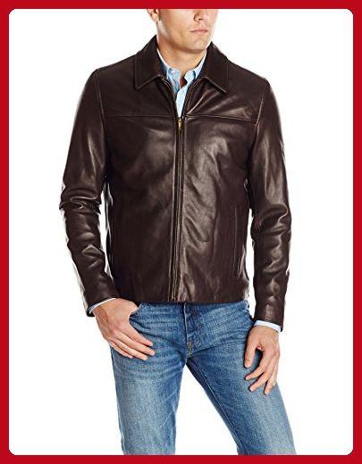 Cole Haan Men's Smooth Lamb Leather Shirt Collar Jacket, Java, Small - Mens world (*Amazon Partner-Link)