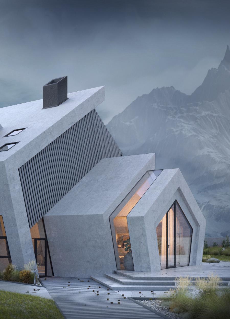 Mountain Concrete House Architecture Concept Architecture Architecture Exterior