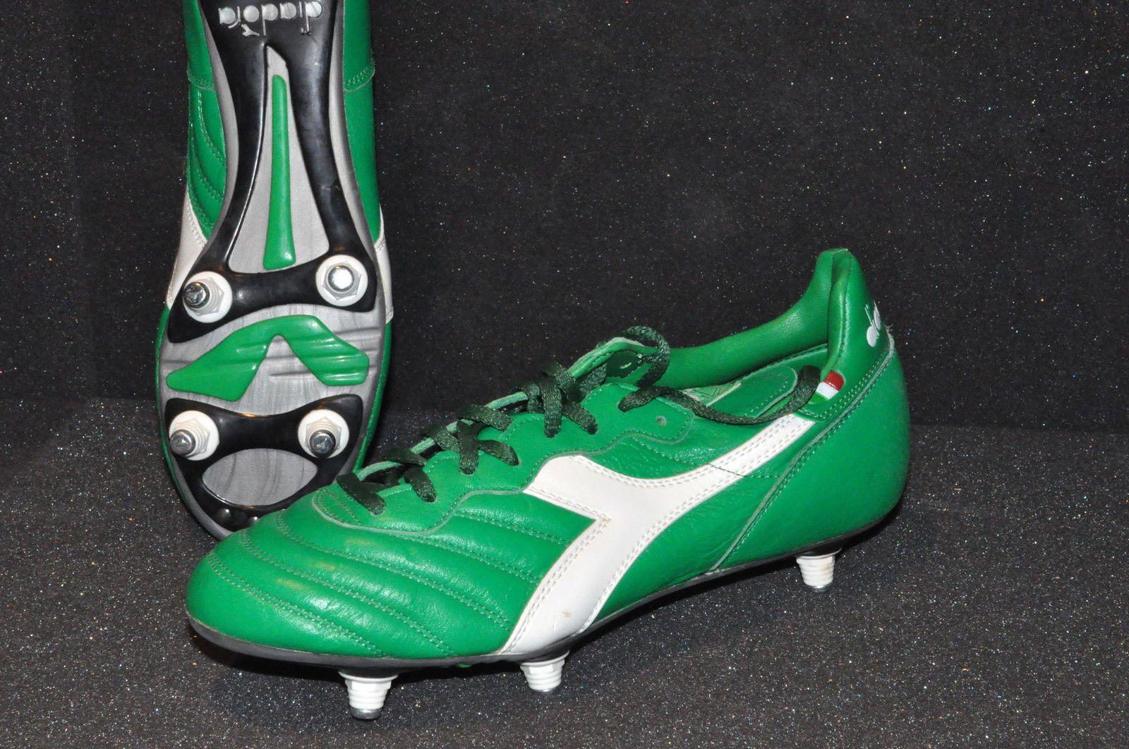 1a18dd131c446 VIDAGE Italia Soccer shoes Diadora Brasil SC Studs Football Boot EU40.5  NEUW | eBay