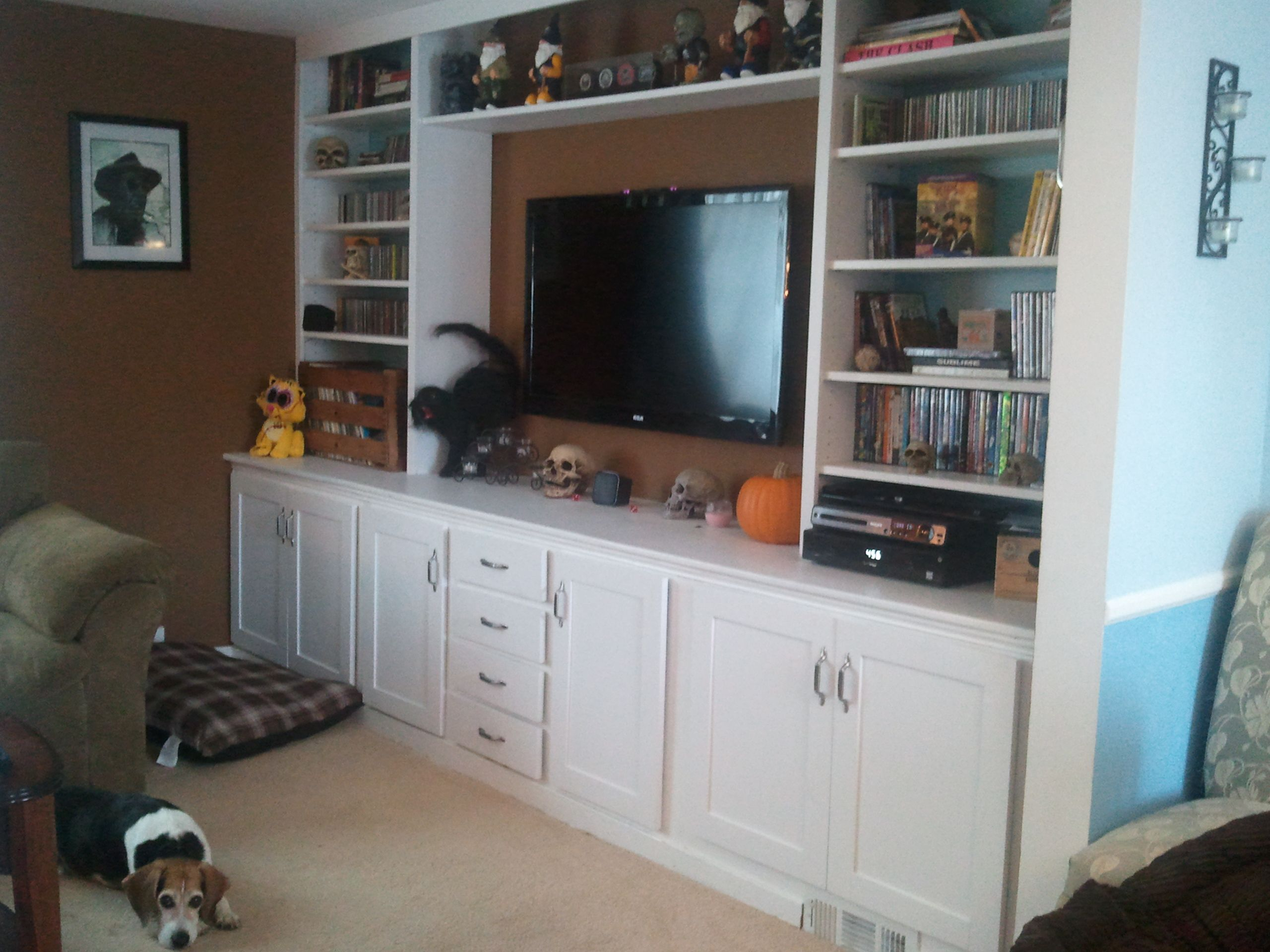 Super Storage TV Wall | Do It Yourself Home Projects from Ana White ...
