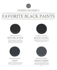 The 5 Best Black Paint Colors