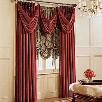 Decorando dormitorios: fotos de cortinas para sala con cenefas ...