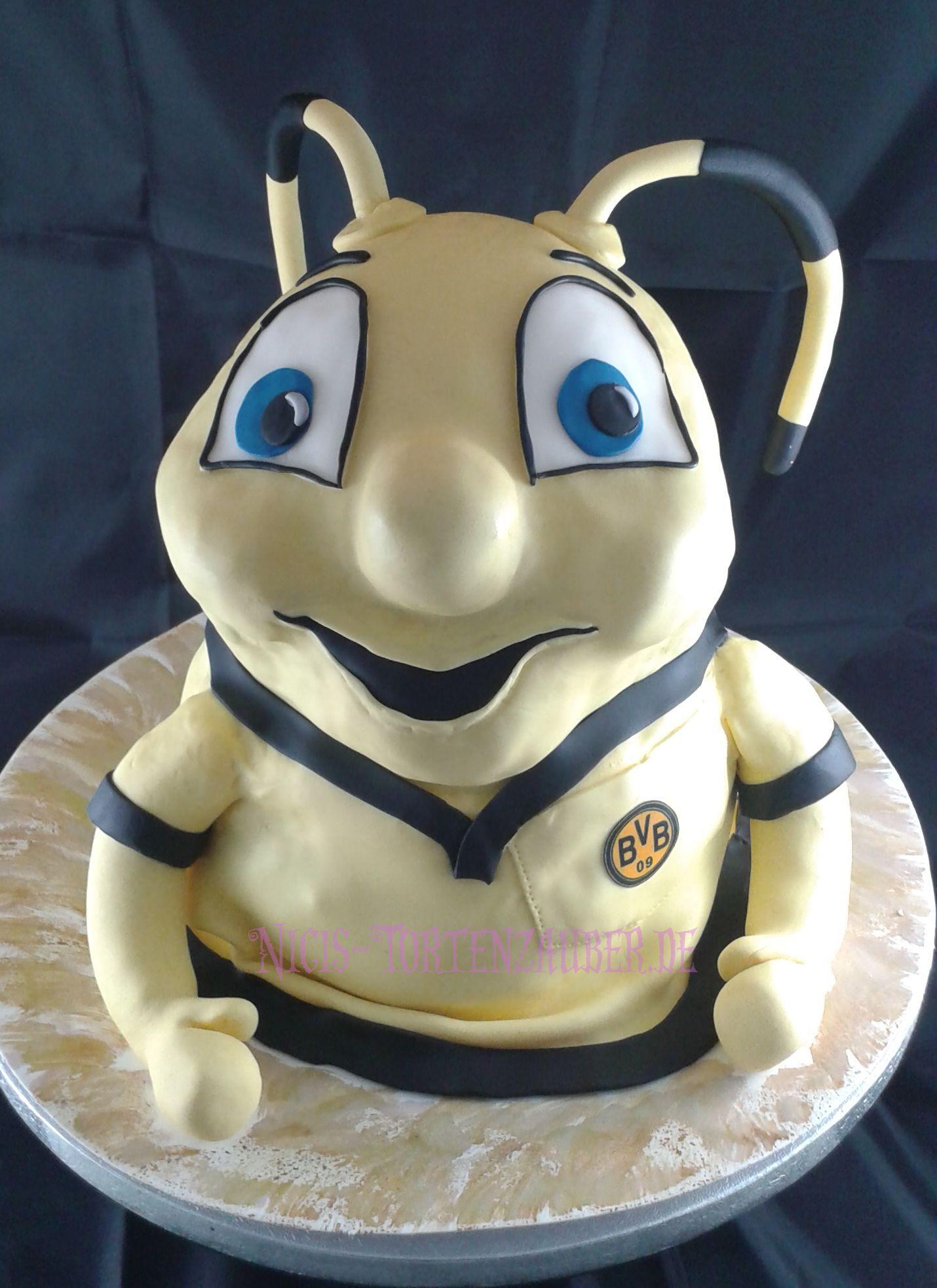 Biene emma torte kuchen cake bvb dortmund for Kuchen dortmund