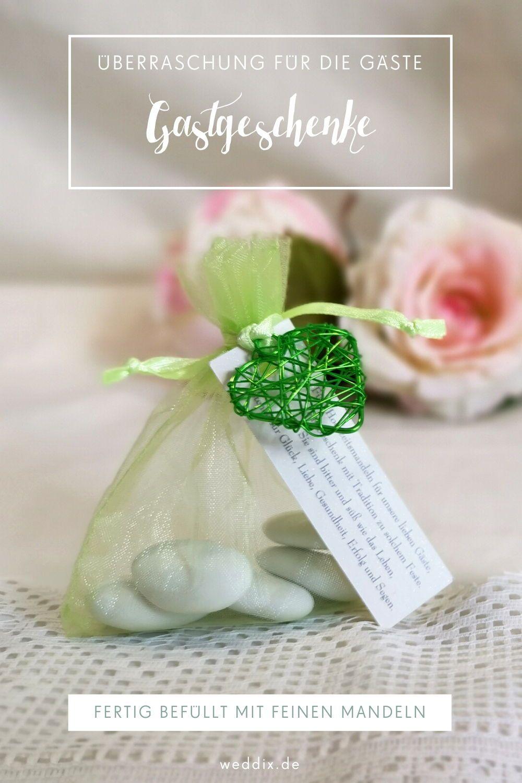 Fertiges Gastgeschenk Eunike In Grun In 2020 Hochzeit Shop Mintfarbene Hochzeit Geschenke