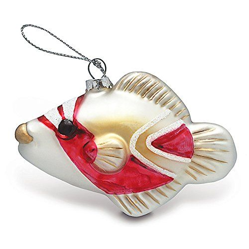 Hawaiian Tropical Humu Fish Christmas Glass Ornament ...