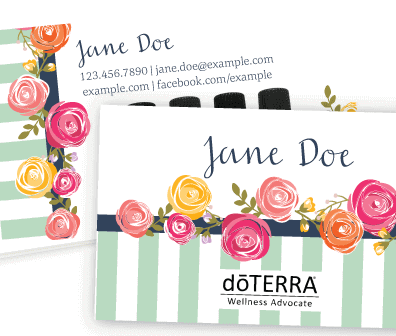 Striped and sophisticated doterra business card doterra oils party striped and sophisticated doterra business card colourmoves