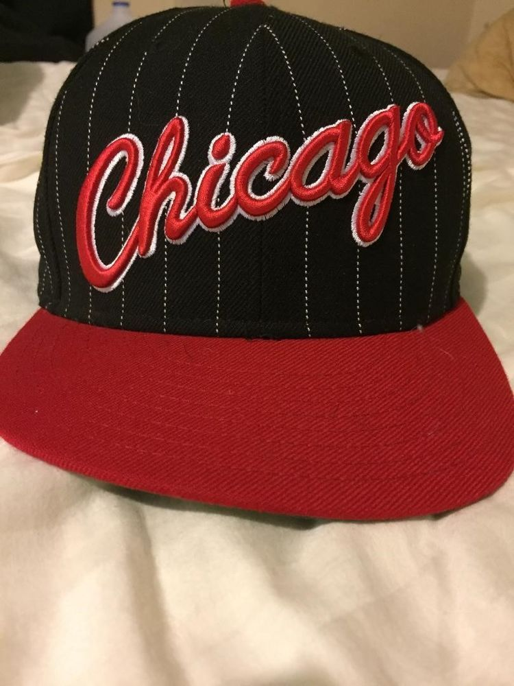 95b0f44e350 Chicago Bulls Windy City Black with White Stripes Fitted Cap Sz 7-1 2  59FIFTY  fashion  clothing  shoes  accessories  mensaccessories  hats (ebay  link)