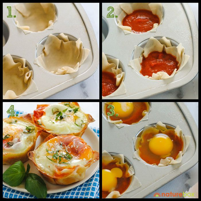 3 Step Recipe Italian Egg Wonton Cups Recipes Cooking For Dummies Breakfast Brunch Recipes