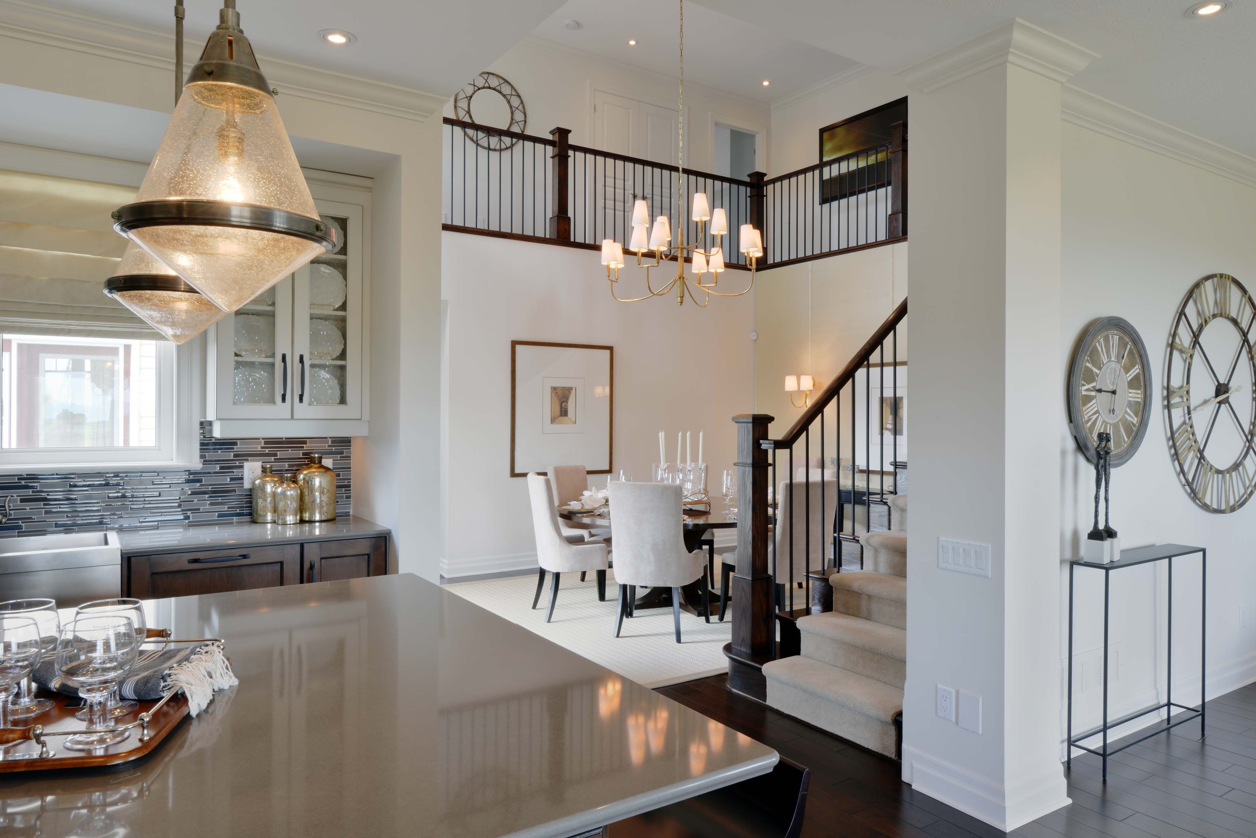 Blackstone Homes Model Main Floor The Black And White Motif Is