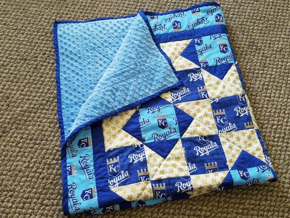 Kansas City Royals quilt 50x55inches | Quilts, Baby boy ...