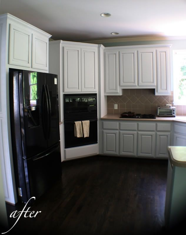 """Light Grey Kitchen Dark Cabinets cabinets are benjamin moore """"grey tint"""" - a very soft light grey"""