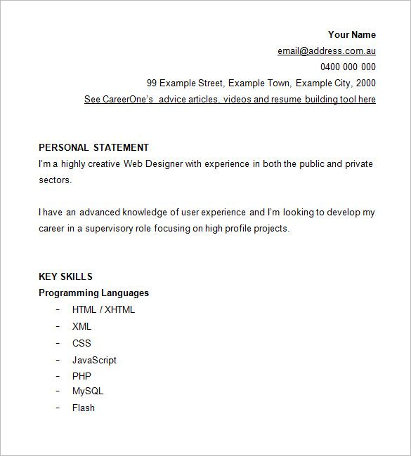 Resume Web Designer Fresher  Submission Specialist  Money And