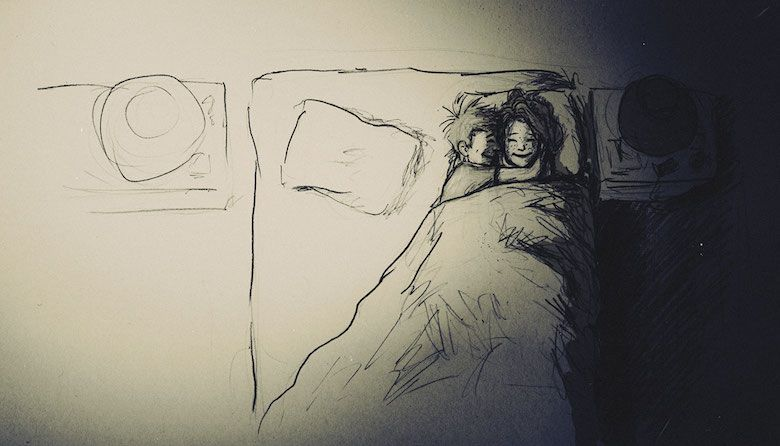 Husband & wife drawings / sketches / illustrations for 365 days - I love her so much