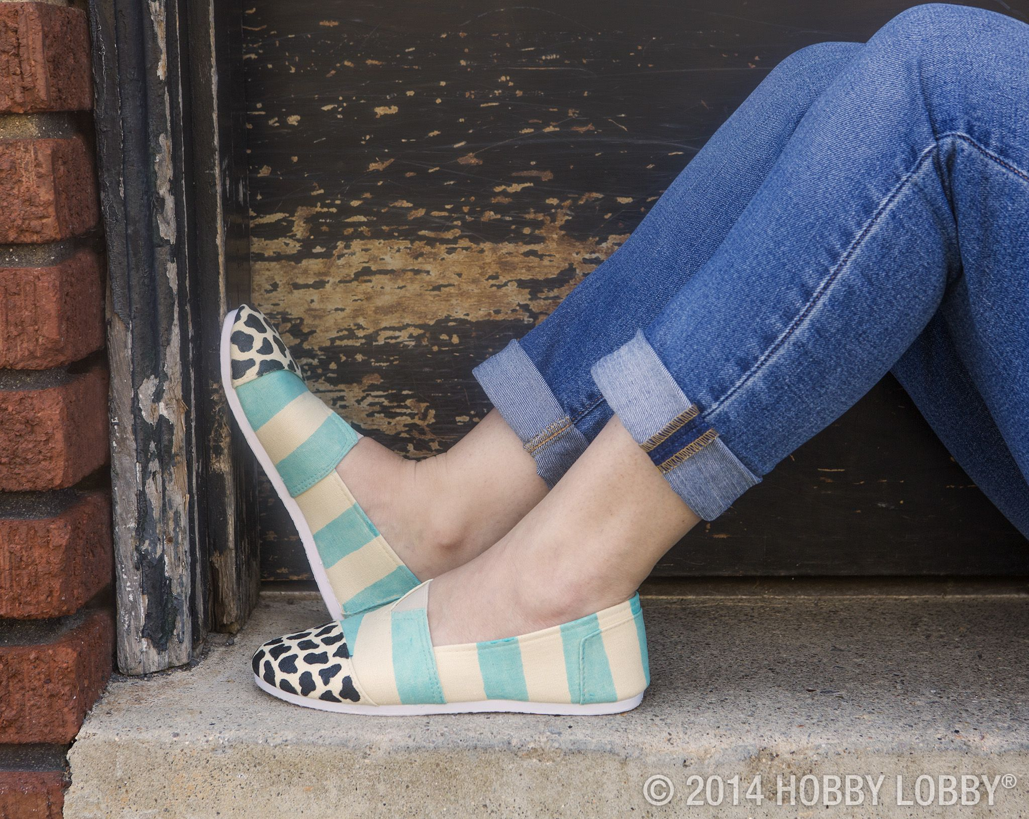 8a8c7fab257 Plain canvas slip-ons have never looked better. The key  A little paint
